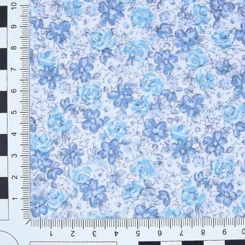 Baumwoll-Mischgewebe blau: Victoria Print im Makerist Materialshop