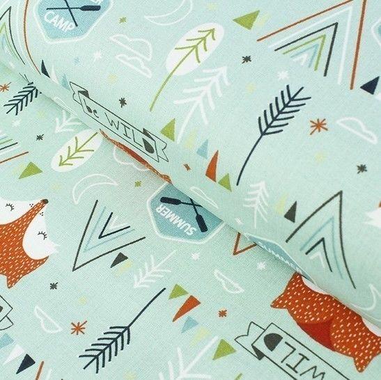 Baumwollstoff mint: kleiner Fuchs - 160 cm im Makerist Materialshop - Bild 1