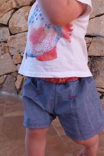 Gedrucktes Schnittmuster für: Baby Shorts (Gr. 56 - 86) Schnittmuster und Nähanleitung im Makerist Materialshop - Bild 1