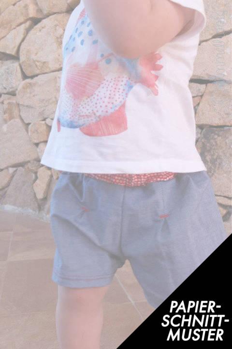 Gedrucktes Schnittmuster für: Baby Shorts (Gr. 56 - 86) Schnittmuster und Nähanleitung im Makerist Materialshop