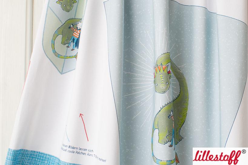 Lillestoff Rapport Bio-Jersey: Schultüte Drache - 160 cm im Makerist Materialshop - Bild 1