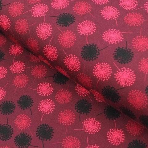 Baumwolljersey bordeaux: Avalana Pusteblumen - 162 cm im Makerist Materialshop