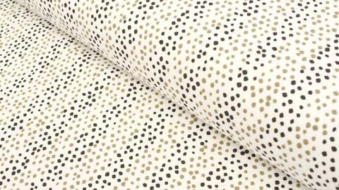 Baumwolljersey wollweiß: Avalana Pünktchenstreifen - 160 cm im Makerist Materialshop