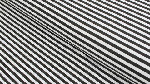 Baumwolljersey schwarz-weiß: Avalana Streifen - 162 cm im Makerist Materialshop