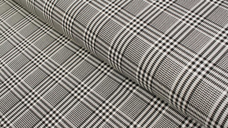 Baumwolljersey schwarz-weiß: Avalana Karomuster  - 162 cm im Makerist Materialshop - Bild 1