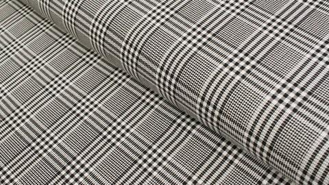 Baumwolljersey schwarz-weiß: Avalana Karomuster  - 162 cm im Makerist Materialshop