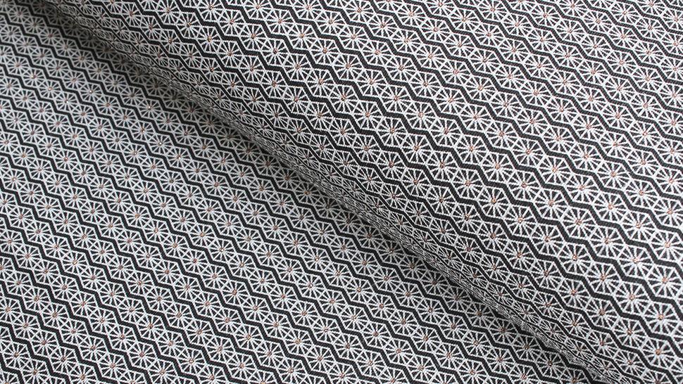 Baumwolljersey schwarz-grau: Bronze Ornamente - 150 cm im Makerist Materialshop - Bild 1