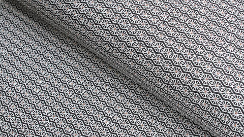 Baumwolljersey schwarz-grau: Bronze Ornamente - 150 cm im Makerist Materialshop