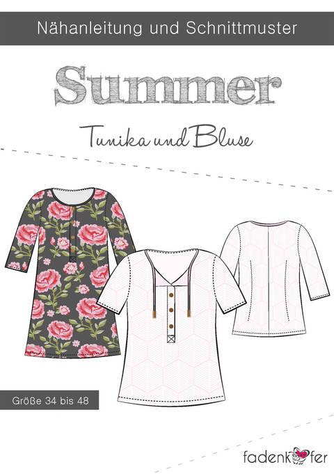 Fadenkäfer Schnittmuster und Nähanleitung gedruckt: Summer Tunika und Bluse im Makerist Materialshop