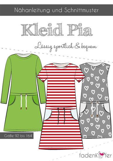 Fadenkäfer Schnittmuster und Nähanleitung gedruckt: Kleid Pia für Kinder im Makerist Materialshop - Bild 1