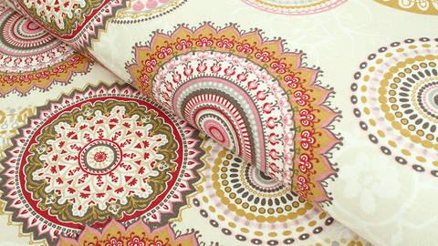 Baumwoll-Mischgewebestoff beige: Mandala - 140 cm im Makerist Materialshop