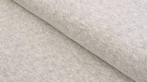 Baumwoll-Strickstoff grau meliert: Pointoille - 140 cm im Makerist Materialshop
