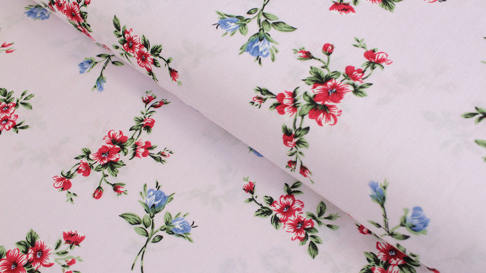 Viskosestoff rosa: Windröschen  - 150 cm im Makerist Materialshop - Bild 1