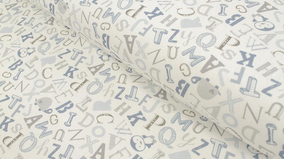 Baumwolljersey weiß: Avalana Buchstaben - 162 cm im Makerist Materialshop - Bild 1