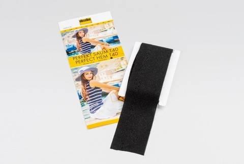 Vlieseline Perfektsaum fixierbar schwarz: SB-Packung - 40 mm x 3 m  im Makerist Materialshop