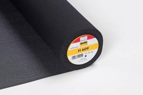 Vlieseline Wirkeinlage schwarz: H609 fixierbar - 75 cm im Makerist Materialshop