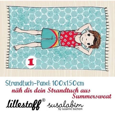 Lillestoff Rapport Bio-Summersweat: Strandtuch Junge 1 - 150 cm im Makerist Materialshop