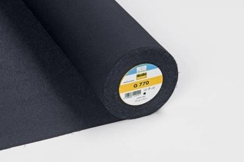 Vlieseline Gewebeeinlage schwarz: G770 fixierbar - 75 cm im Makerist Materialshop