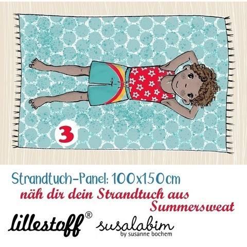 Lillestoff Rapport Bio-Summersweat: Strandtuch Junge 3 - 150 cm im Makerist Materialshop