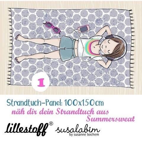 Lillestoff Rapport Bio-Summersweat: Strandtuch Mädchen 1 - 150 cm im Makerist Materialshop