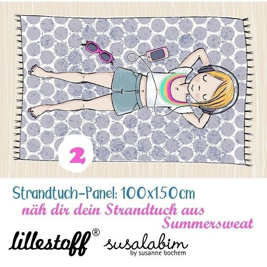 Lillestoff Rapport Bio-Summersweat: Strandtuch Mädchen 2 - 150 cm im Makerist Materialshop - Bild 1
