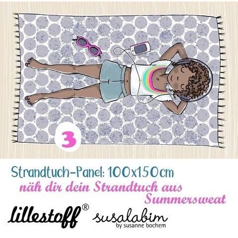 Lillestoff Rapport Bio-Summersweat: Strandtuch Mädchen 3 - 150 cm im Makerist Materialshop