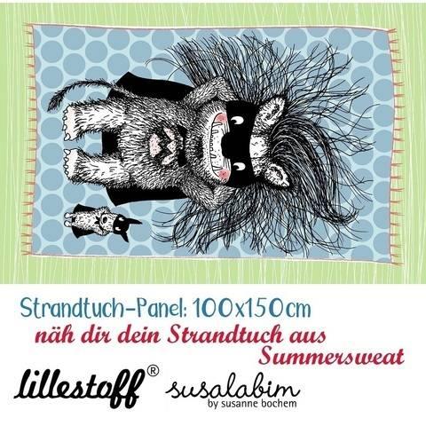 Lillestoff Rapport Bio-Summersweat: Strandtuch Monsterheld - 150 cm im Makerist Materialshop