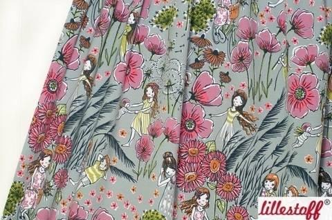 Lillestoff Bio-Jersey grau: Sommerträume - 160 cm im Makerist Materialshop