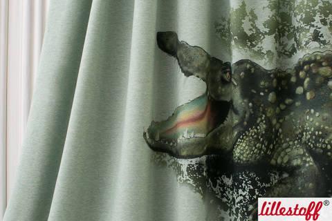 Lillestoff Rapport Bio-Jersey mint meliert: Kleines Krokodil - 150 cm im Makerist Materialshop