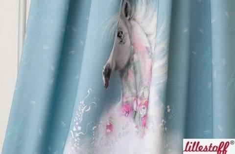 Lillestoff Rapport Bio-Jersey hellblau: Soulhorse - 150 cm im Makerist Materialshop