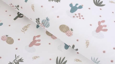 Baumwollstoff ecru: Kaktuswüste - 145 cm im Makerist Materialshop