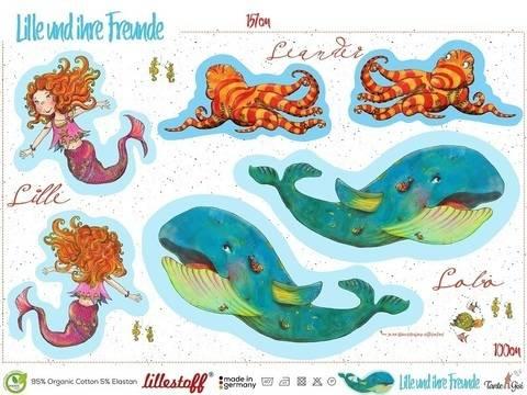 Lillestoff Rapport Bio-Jersey: Lille und ihre Freunde - 150 cm im Makerist Materialshop