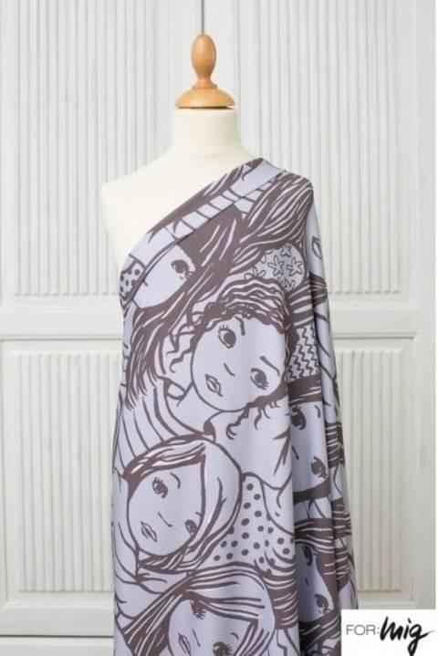 Lillestoff Modalstoff braun: Große Frauen - 150 cm im Makerist Materialshop