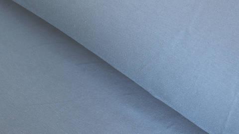 Baumwolljersey rauchblau uni: Avalana Solid - 162 cm im Makerist Materialshop