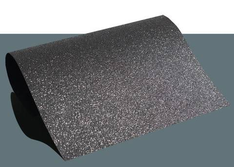 Flexfolie glitzernd zum Plotten schwarz: Extra Bling - DIN A4 im Makerist Materialshop