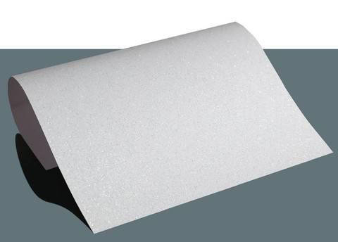 Flexfolie glitzernd zum Plotten weiß: Extra Bling - DIN A4 im Makerist Materialshop