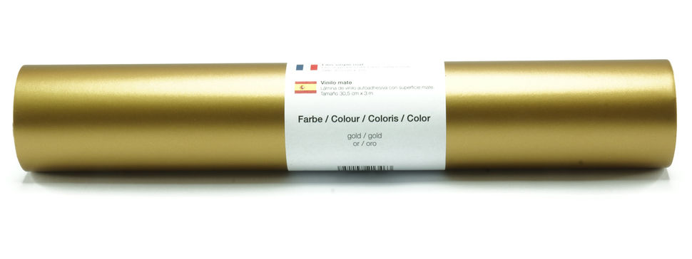Vinylfolie matt gold - 30,5 cm x 3 m im Makerist Materialshop - Bild 1