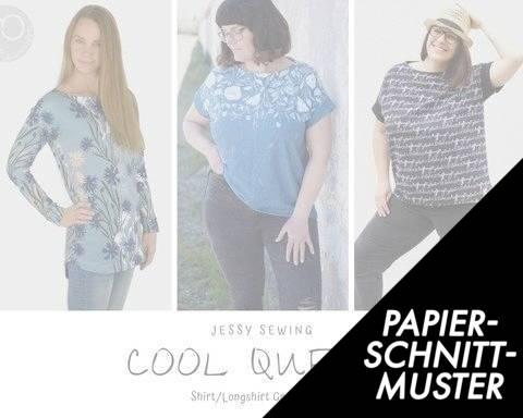 Gedrucktes Schnittmuster für: eBook *Cool Queen* Shirt, Longshirt, Kleid Gr. 32 bis 50  im Makerist Materialshop