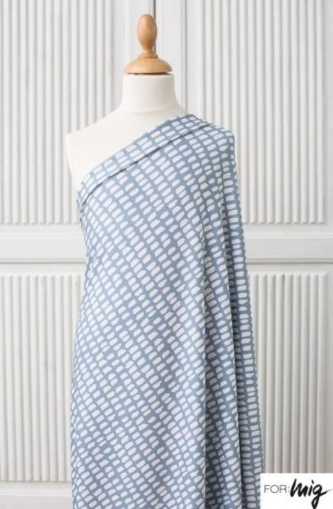 Lillestoff Modalsweat graublau-weiß: Stripe Stripe - 150 cm im Makerist Materialshop