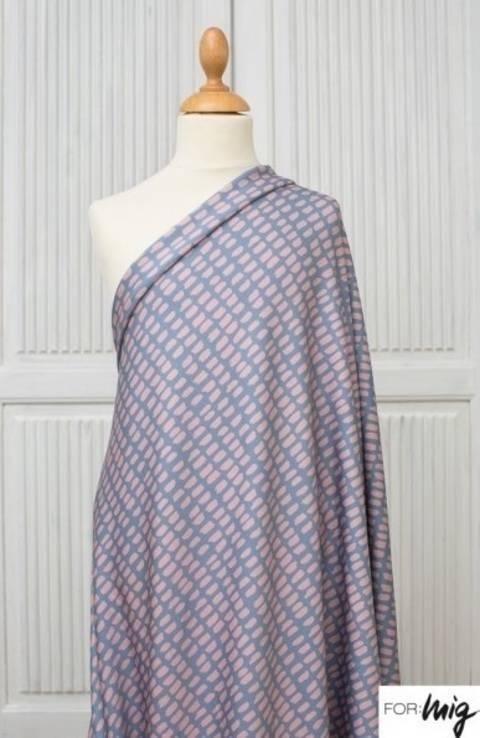 Lillestoff Modalsweat graublau-pastellrosa: Stripe Stripe - 150 cm im Makerist Materialshop