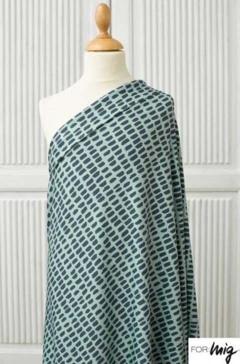 Lillestoff Modalsweat pastellmint-dunkelblau: Stripe Stripe - 150 cm im Makerist Materialshop