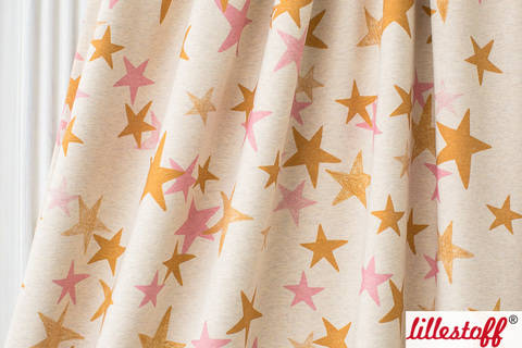 Lillestoff Bio-Jersey meliert senf pink: When It´s Dark Look For Stars - 160 cm im Makerist Materialshop