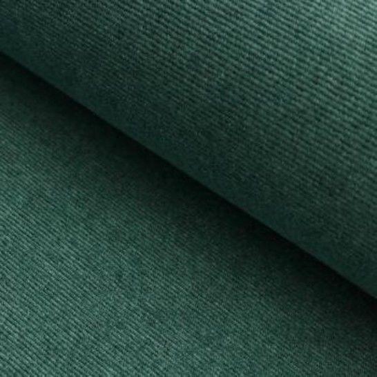 Cord-Jersey Conni Melange - grün im Makerist Materialshop - Bild 1