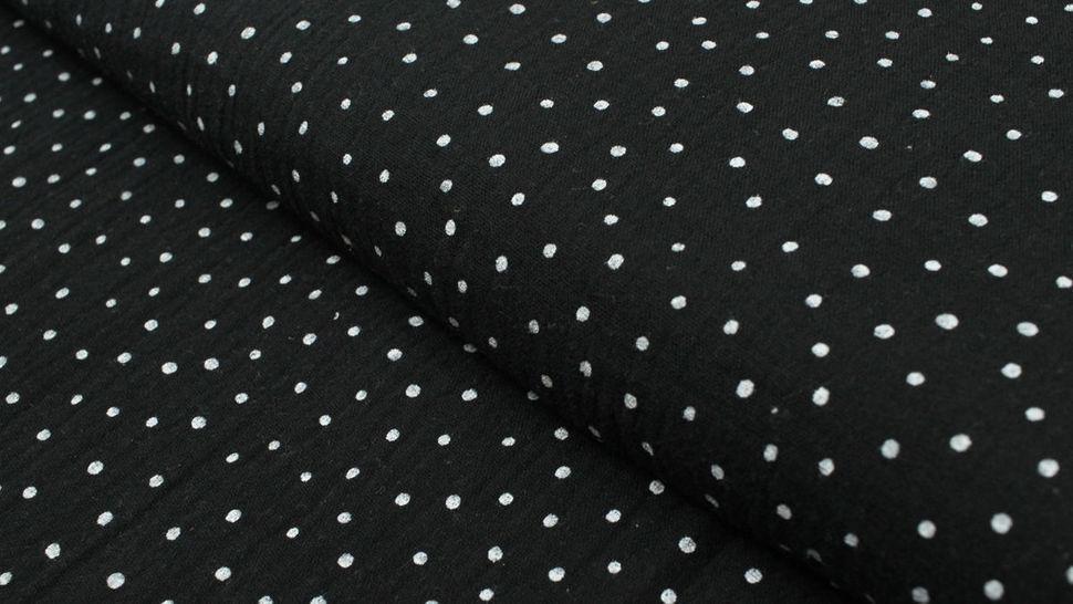Double Gauze Little Dots von Hanabi - schwarz im Makerist Materialshop - Bild 1