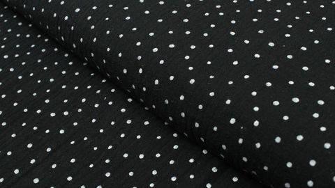 Double Gauze Little Dots von Hanabi - schwarz im Makerist Materialshop