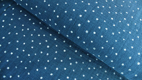 Double Gauze Little Dots von Hanabi - blau im Makerist Materialshop