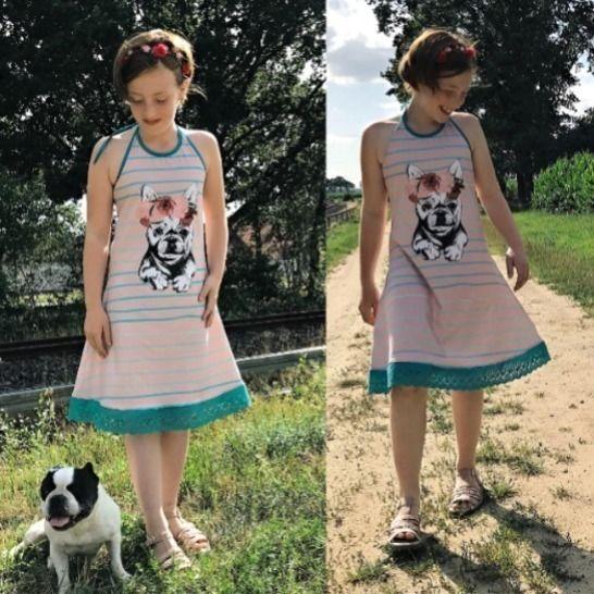 Gedrucktes Schnittmuster für: Ciana Neckholder: süßes Strandkleid: ebook 92-158 im Makerist Materialshop - Bild 1