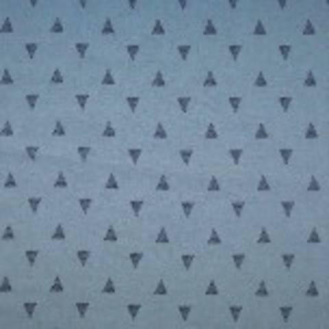 Viskose Leinen blau von Hanabi: Triangles - 135 cm  im Makerist Materialshop