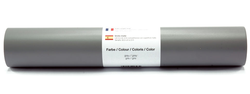 Vinylfolie matt grau - 30,5 cm x 3 m im Makerist Materialshop - Bild 1