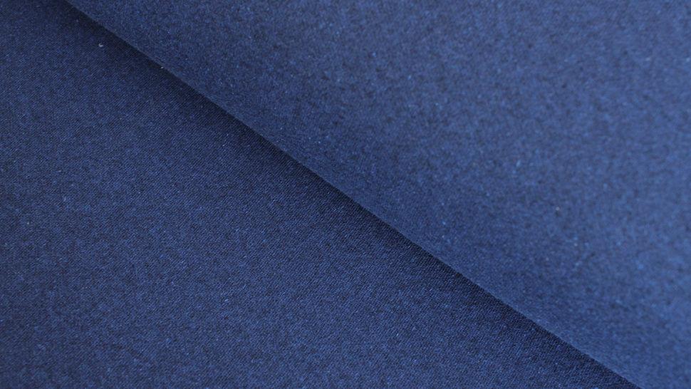 Jacquard-Jersey uni recycelt: navy - 155 cm im Makerist Materialshop - Bild 1